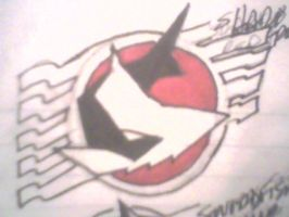 Red Shark symbol by DynamicSavior