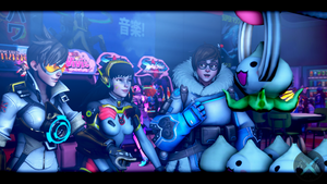 At the Arcade by SFM-ShatteredKnives