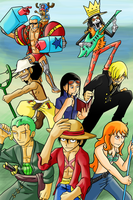 Straw Hat Pirates - Time Skip by dragonsong12