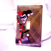 Harley Quinn Light Switch Cover by thedustyphoenix