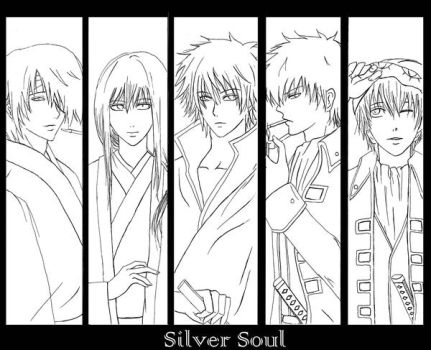 Gintama uncolored by dom90