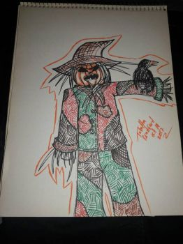 Scarecrow Inktober 18 by somechick73