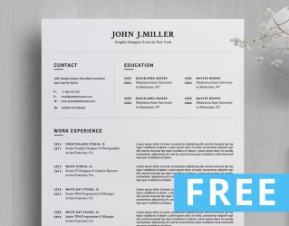FREE RESUME WORD TEMPLTE by khaledzz9