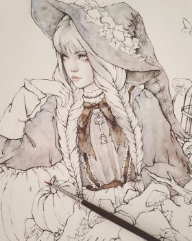 Gray Witch Wip by EnysGuerrero