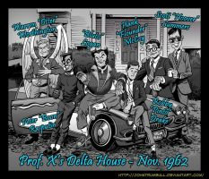LIID 136 BONUS: X-Men Animal House Black and White by johntrumbull
