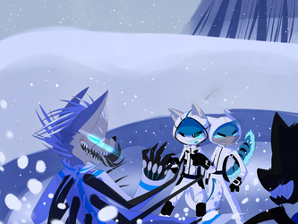 Snowy Confrontation by Void-Shark
