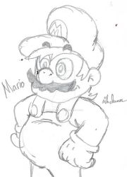BB: Mario Sketch by Pizza-and-Fandoms