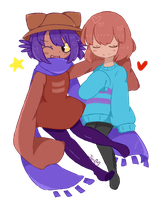 Niko and Frisk by Miikotsu