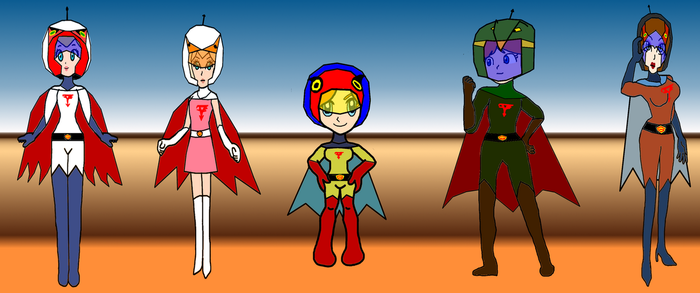 Mario Princesses as Gatchaman by PeachLover94
