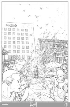 X-men 1 Page 4 Pencils by ElVlasco