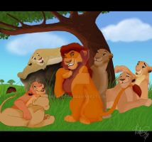 Mufasa gets all the ladies by MorisHizen