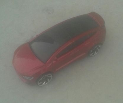 Tesla Model X from Hot Wheels on the go by Wael-sa