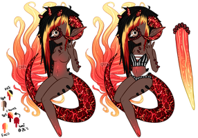 Mermay: Xynthii Adopt: Day 11: Fire: CLOSED by ObsceneBarbie