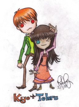 Chibi Contest: Kyo and Tohru by AngelFromTheAshes