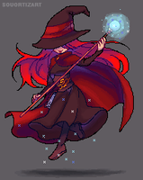 Aya, The Witch | Pixel animation commission by SouOrtiz