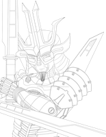 Request - Samurai Lineart by PsychoticDoodle