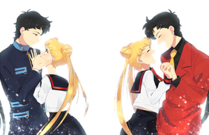 Usagi x Seiya  - Sailor Moon - png by AriaLacava