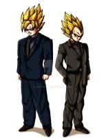 Saiyans in Suits by Gothax
