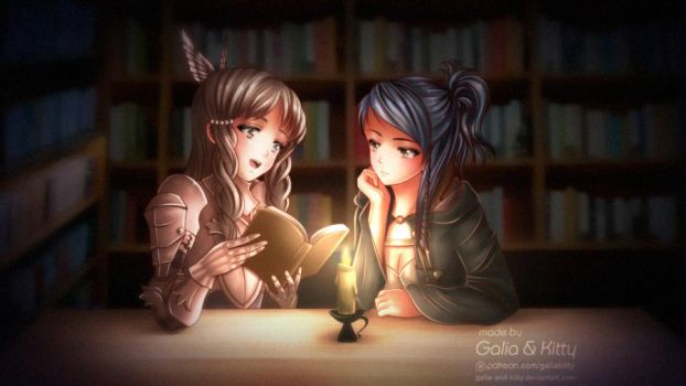 Commission: Reading (Fire Emblem) by galia-and-kitty