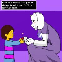 Frisk and Toriel Hope for the Future by KeeleyCookieson