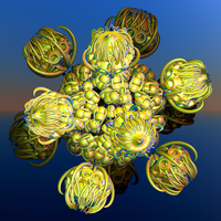 green ball with flower buds by Andrea1981G