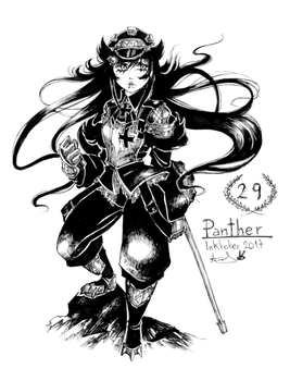 Inktober 29 - Panther by YunaXD