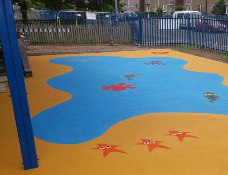 Play area flooring and marking installation by PlaygroundMarkings