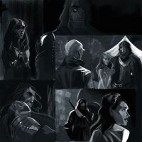 Game of Thrones Sketches 3 by kallielef