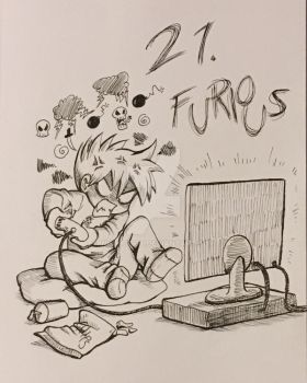Inktober 2017: Furious by InnuDoggy