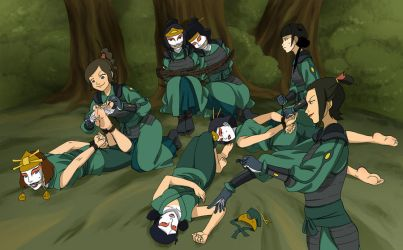 Kyoshi Warriors in trouble 2 by Malasorte504