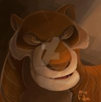 #41 Daily Paint - Shere khan by Fefss