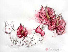Anthurium Bull Terrier by lindsaycampbell