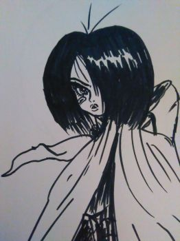Marker Doodle: Alita by Zachariah-of-Mars