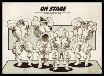 On stage - abs-contest by Gettar82