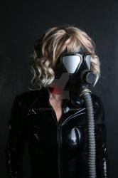 Gas mask and latex hood by LatexModel