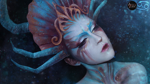 MAKEUP - Zodiac signs [Cancer] by AliceYuric