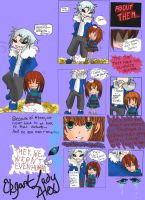 Frisk and Sans Comic, Page 1 by ElegantLadyAlex