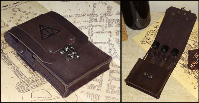Deathly Hallows Pouch by Spoon333