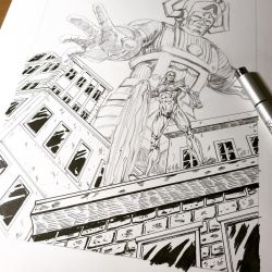 Galactus Silver surfer commission  by shaotemp