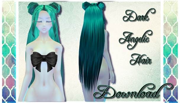 Dark Angelic Hair - MMD Download by Shiremide1