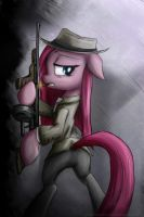 Pinkamena gangster by rule1of1coldfire