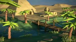 Sunrise at the Nile (LowPoly) by pat2494
