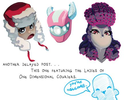 Ladies of One Dimensional Couriers by theCHAMBA