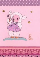 a cute sheep by NanakoHarrison