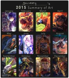 2015 summary of art by Garmmon