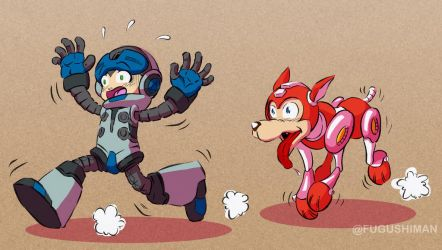 Mighty No 9 and Rush by fugushima