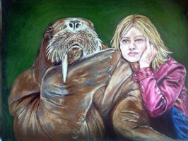 Jodie Foster and Walrus by Evanoch