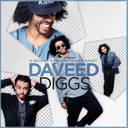 Daveed Diggs PNG Pack 009 by sohappilyart