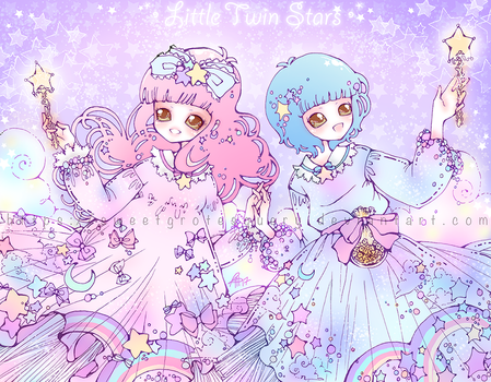 .:*{Little Twin Stars}*:. by SweetGrotesquery