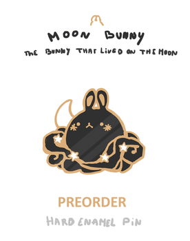 MOON BUNNY PIN - PREORDER by K0ii